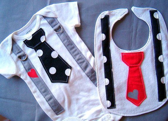 Black and White Polka Dot Heart Boy Tie by shopantsypants, $23.99. Hmmm...gift idea for my brother's baby?