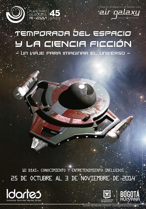 Afiche temporada del espacio y la ciencia ficci n dise o for Casas de diseno grafico en la plata