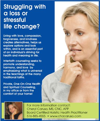 Struggling with loss, stress, change?  www.chacaruso.com