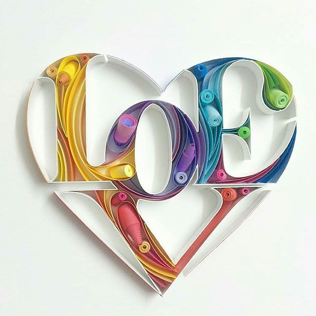 Happy Valentine's day everyone ;-) Great paper lettering from @sabeenu