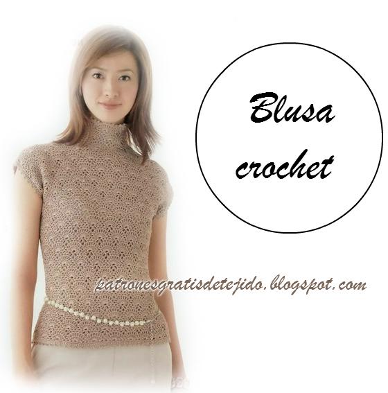 Crochet y dos agujas: Patrones de delicada blusa crochet | Crochet ...
