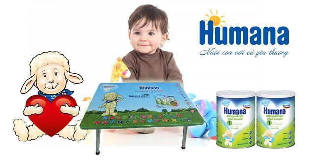 Chương trình khuyến mãi tặng ngay 1 bàn học cao cấp cho bé yêu khi mua 02 lon Humana Expert 800g bất kỳ.