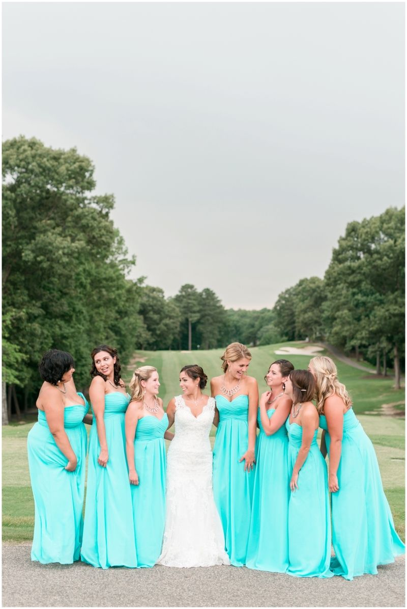 Tiffany Blue Bridesmaids Dresses Fords Colony Country Club -1694