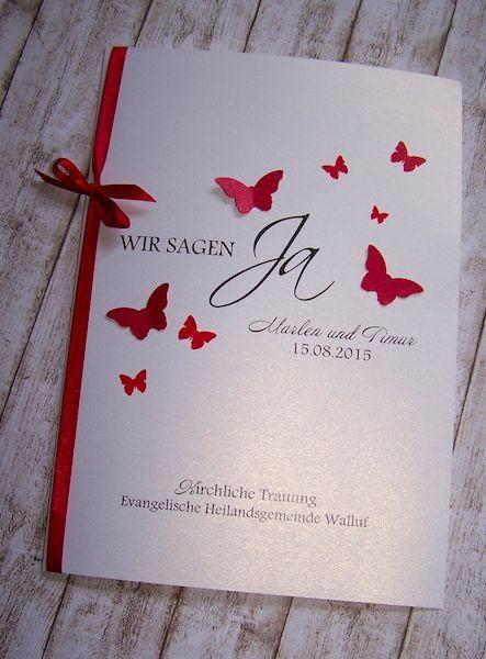 kirchenheft hochzeit rot einladungskarte pinterest hochzeit wedding and weddings. Black Bedroom Furniture Sets. Home Design Ideas
