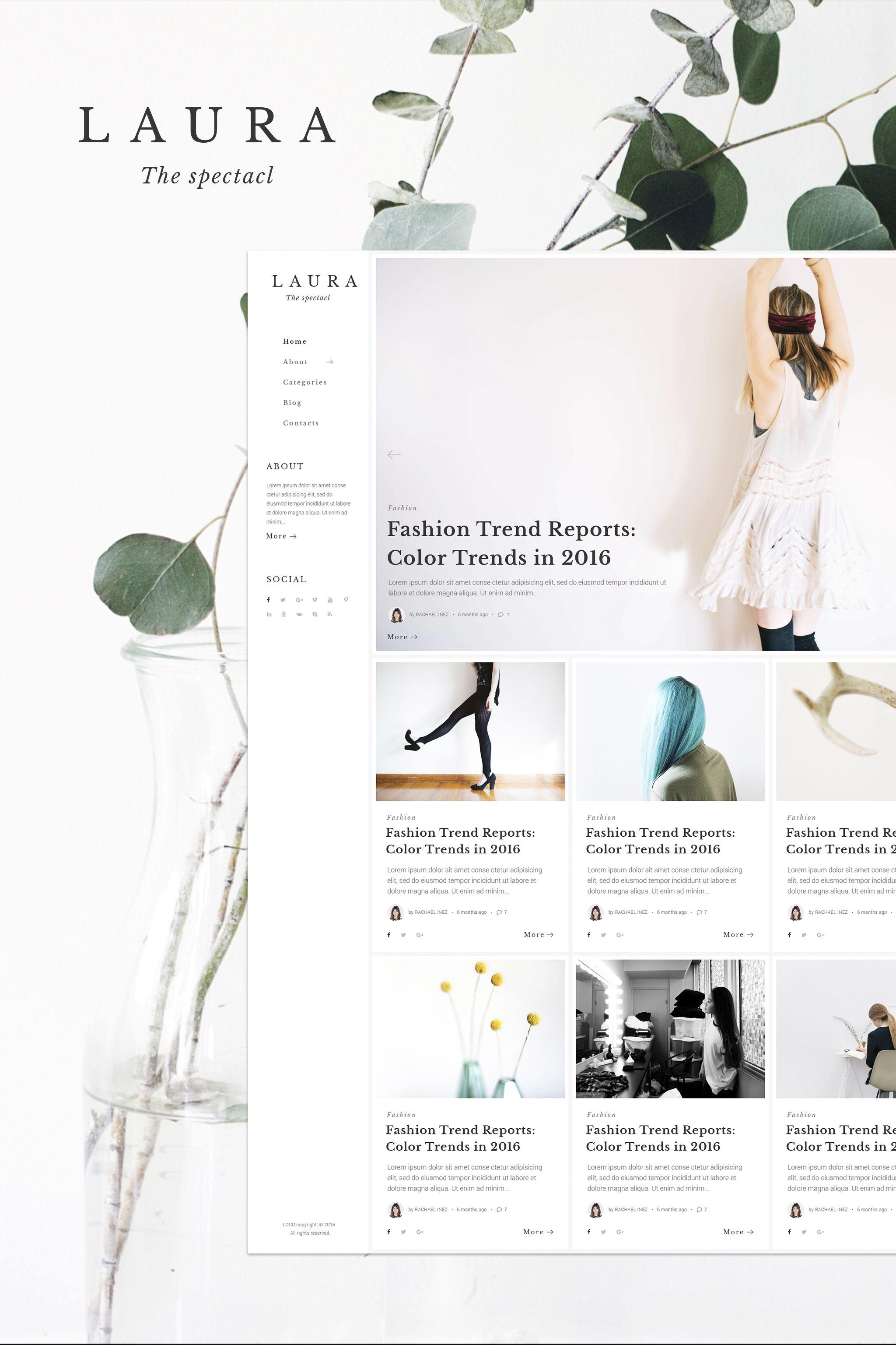 Women Blog WP Theme | WordPress | Pinterest | Wordpress template ...