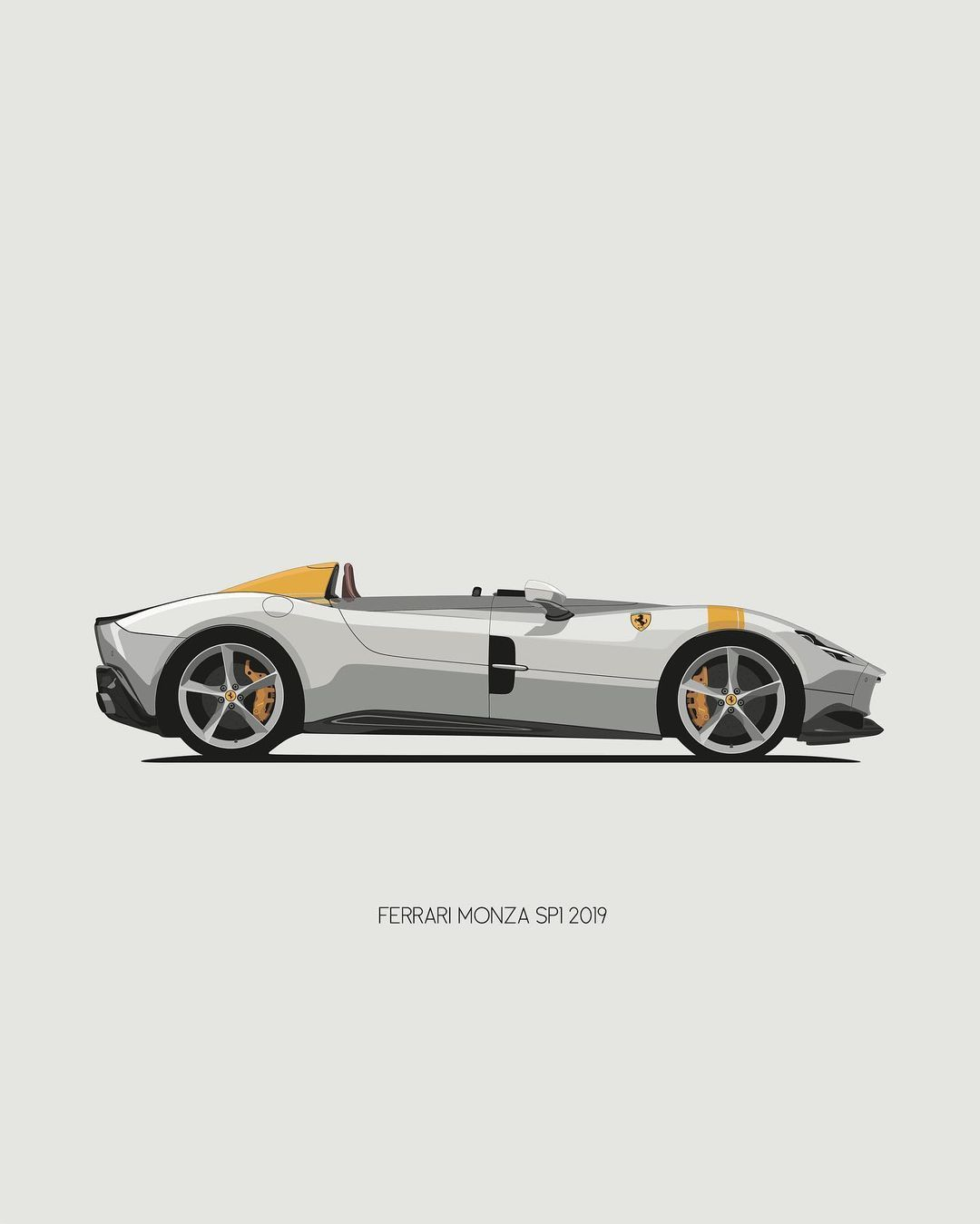 "remove-before.com on Instagram: ""Ferrari Monza SP1 print available 🐎 . . . #removebefore #ferrari #monza #ferrarimonzasp1 #cardesign #autoillustration #carillustration…"""