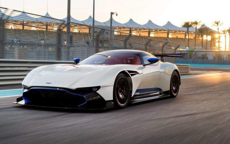 Wallpaper Aston Martin Vulcan White Sports Car