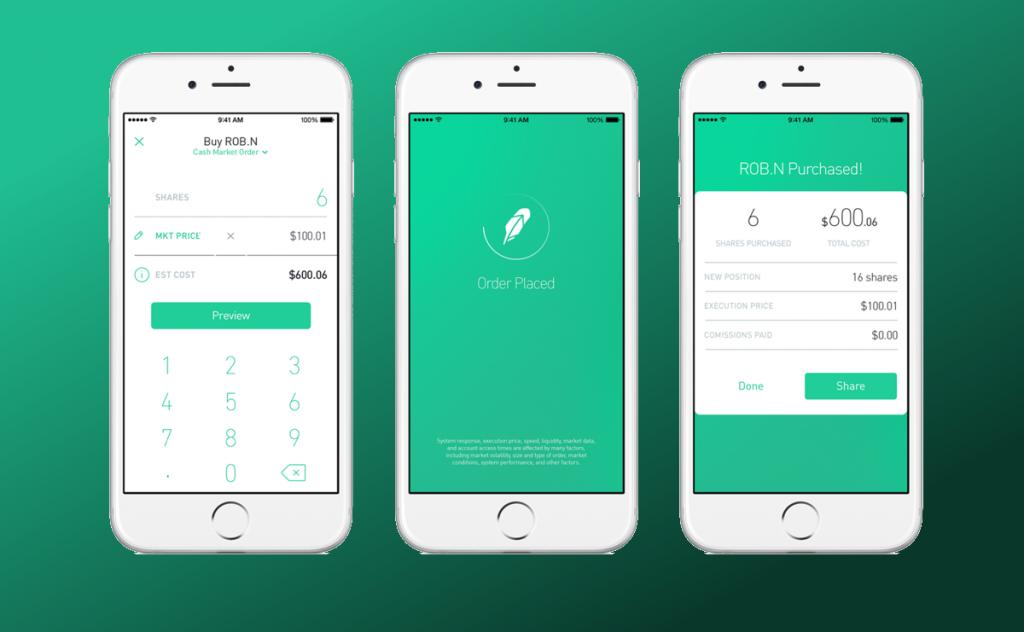 micro investing robin hood app Business process