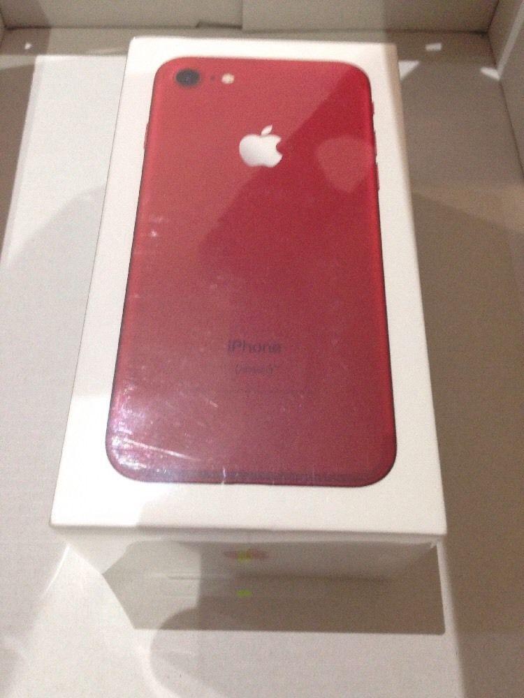 Brand new apple iphone 7 plus red 256gb unlocked hello