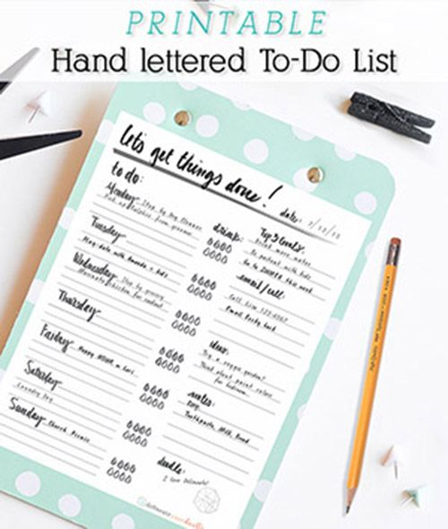 Hand Lettered To-Do List- Delinate your dwelling