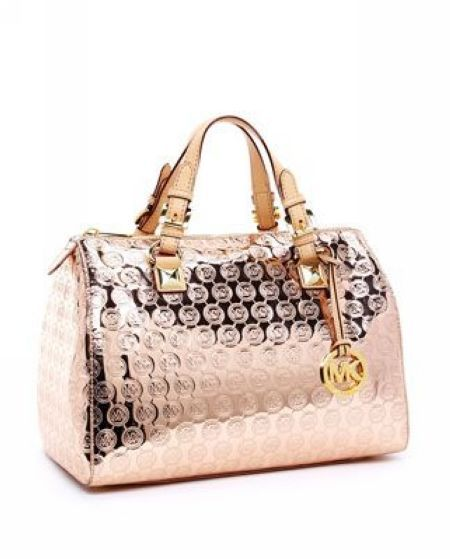 d0726216cb08 Michael Kors Grayson Monogram Large Satchel Rose Gold | Dresses and ...