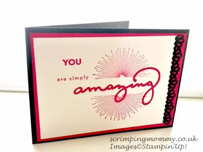 Celebrating you card Stampin' Up! products