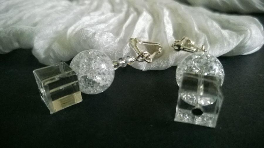 Clips cristal de roche, by Design'n Chic
