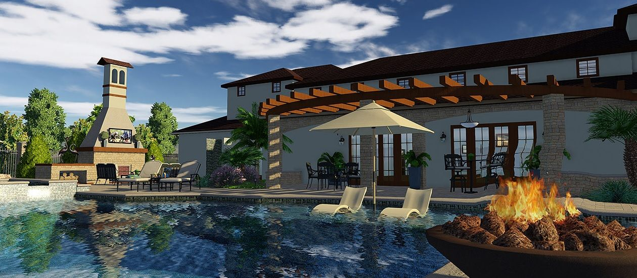 Choose Your Swimming Pool Features with 3D Pool Designs | Pool designs
