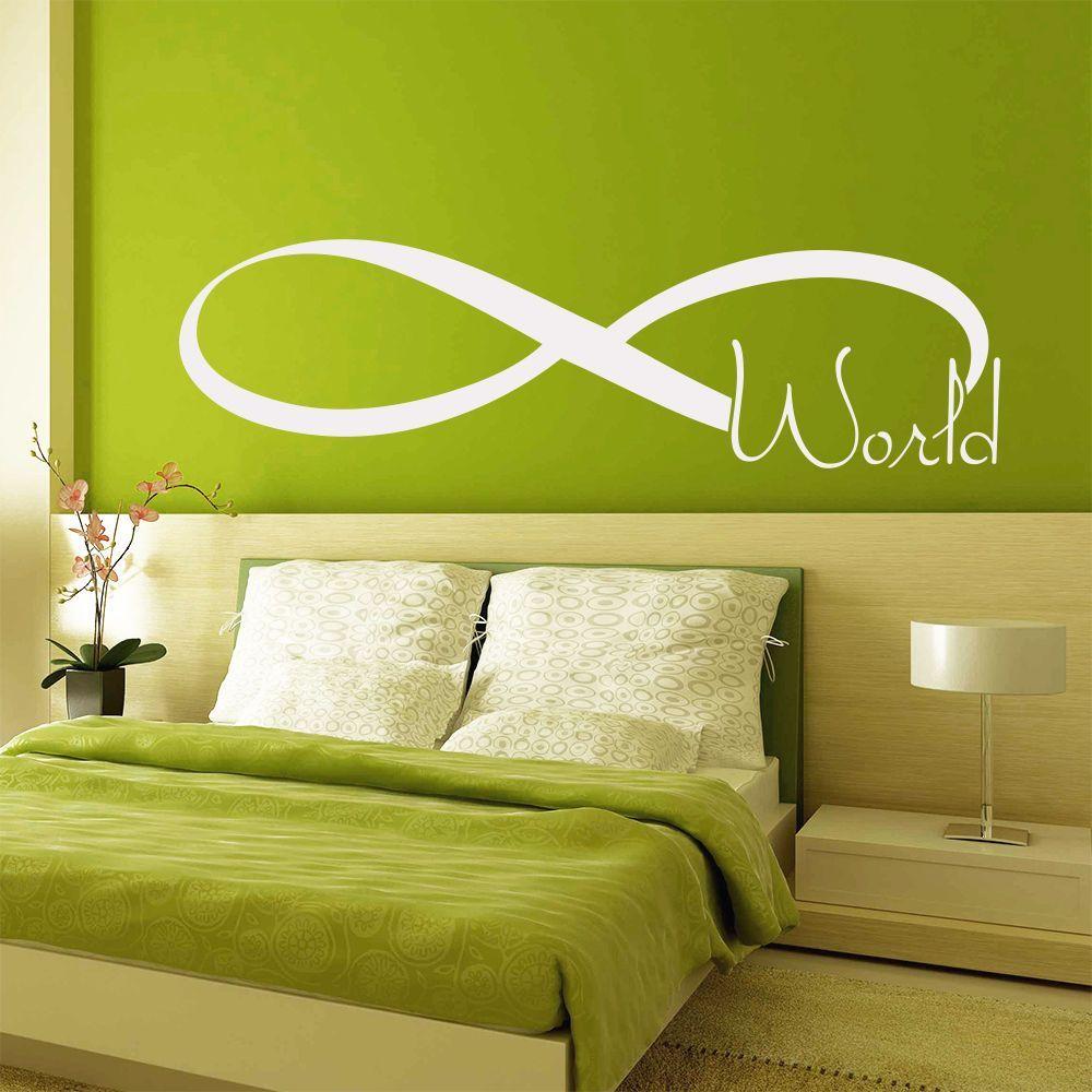 Wall Decals Quote Infinity World Symbol Art Vinyl Sticker Bedroom ...
