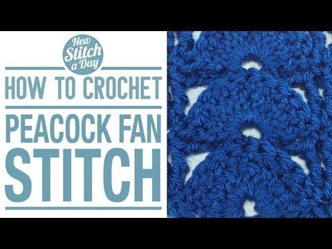 ▶ How to Crochet the Peacock Fan Stitch - YouTube