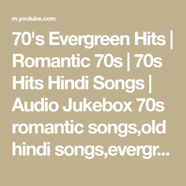 Romantic songs hit old Listen to