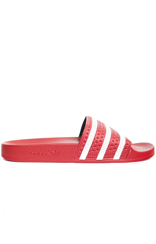 best service 99c5c ac382 Adidas, (288193) Adilette Slides - Red White - Adidas Women - MOOSE Limited