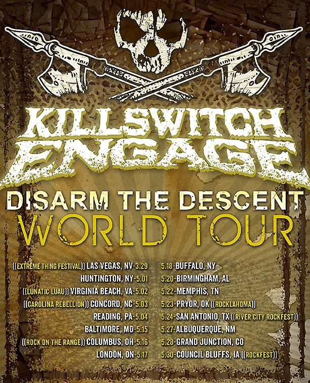 News The Heavy Metal Band Killswitch Engage Has Announced A Short Run Of U S Headlining Tour Dates Along With