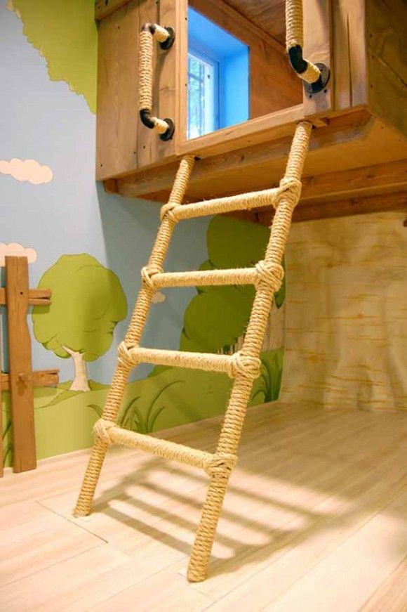 Diseño de Habitación para Niños con una Casa en el Arbol Slumber - diseo de habitaciones para nios