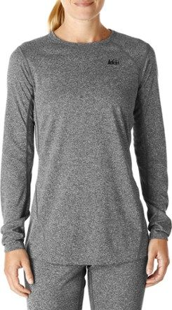 98b9560b Designed to keep you warm and wick away moisture, the REI lightweight base  layer crew top is ideal for high-performance outdoor activities when the ...