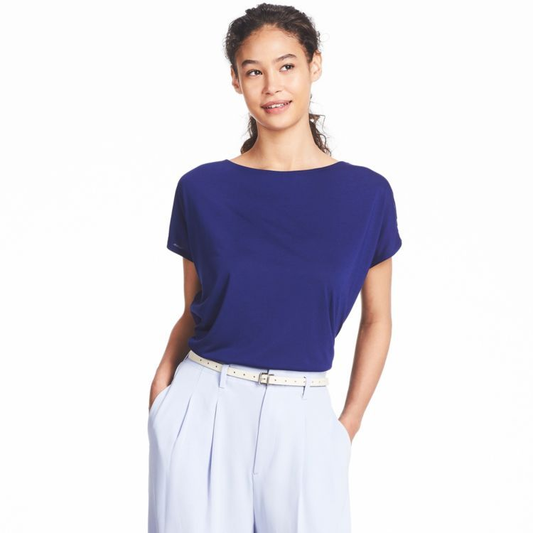 f606150cbbc (in green or white) Check out DRAPE CREW NECK SHORT SLEEVE T-SHIRT at Uniqlo.ca.  A t-shirt with an flowing draped cut, available in a wide variety of ...