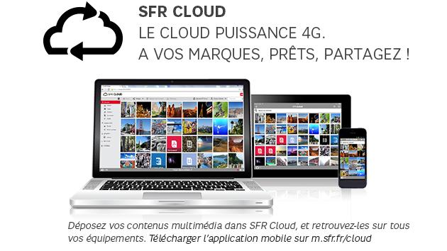 SFR mon compte Espace sécurisé Le cloud, Espace client