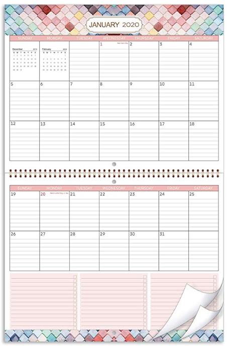 Best Vegan Wall Calendar 2020 In 2020 Wall Calendar Organizer Wall Calendar Large Wall Calendar