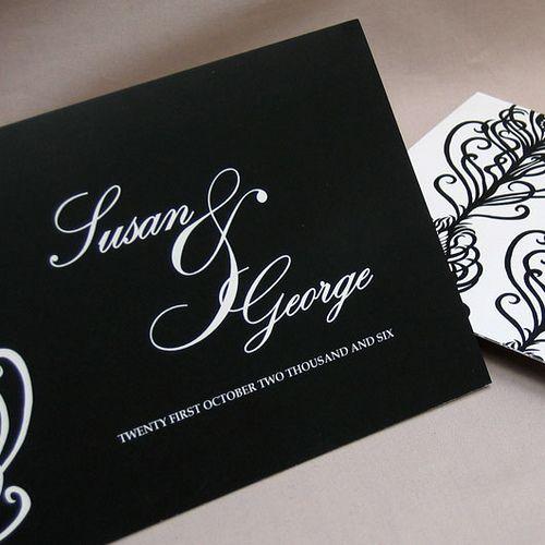 simple unique black wedding invitation card Wedding Pinterest