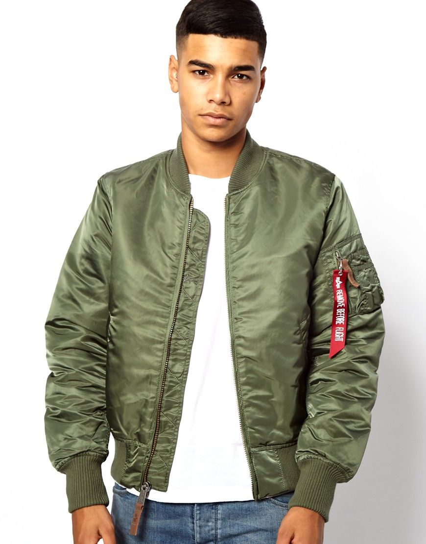 Alpha Industries MA1 Bomber Jacket Slim Fit | Fashion Items I love ...