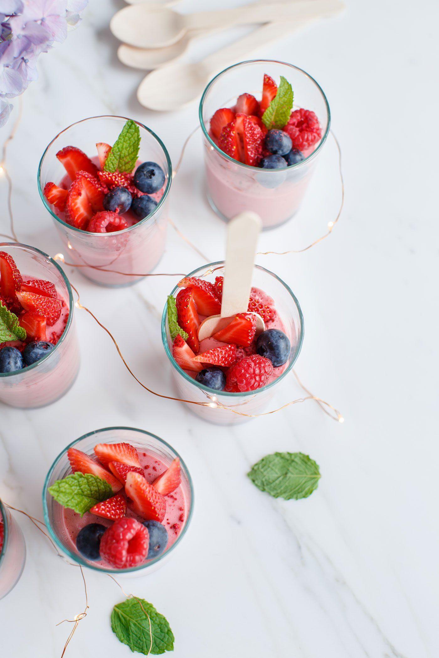 Summer Berry Mousse Cups   ASCENSION KITCHEN BLOG   Plant-Based ...