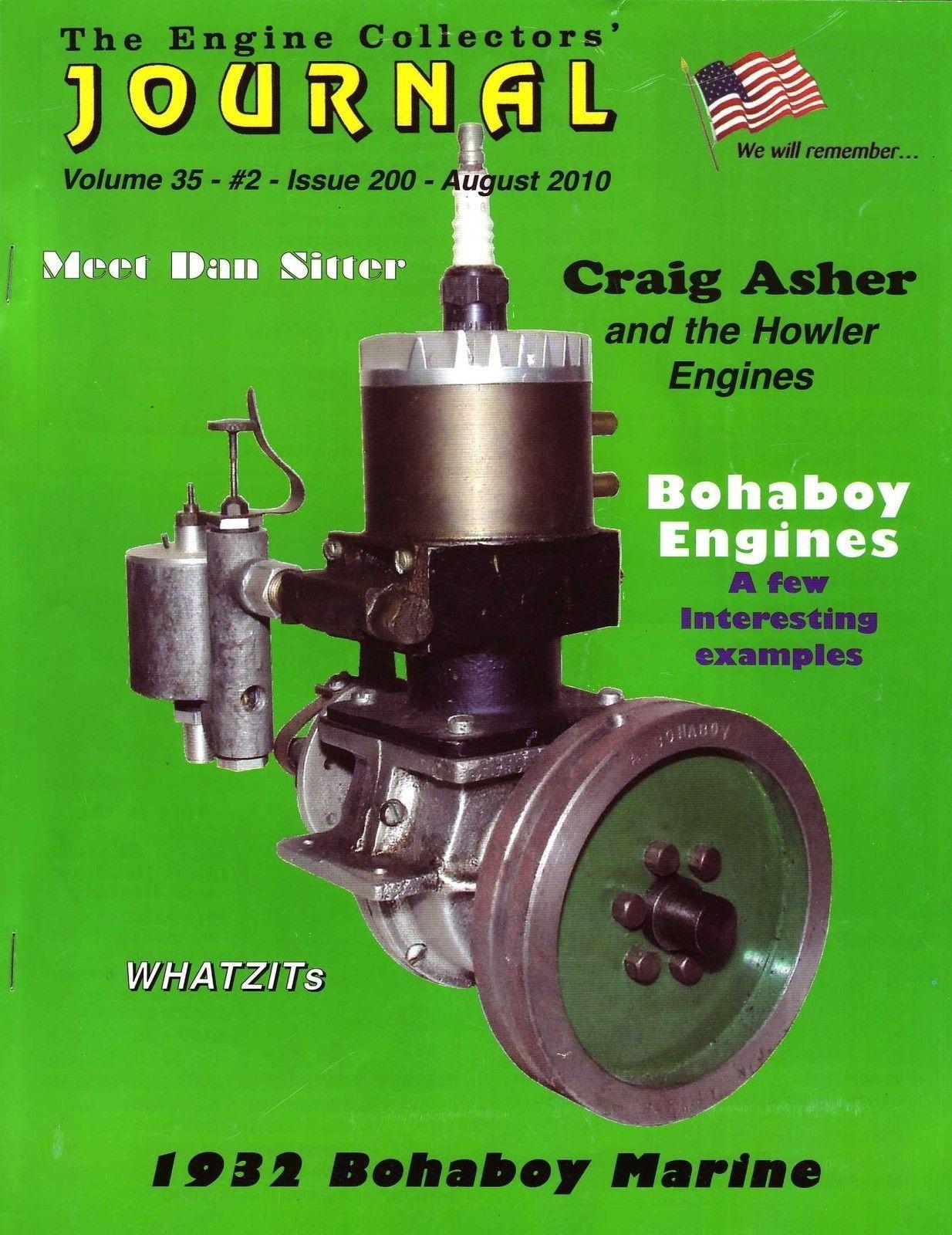 200 Engine Collectors Journal Bohaboy Marine Howler 30cc Mel Anderson Model Engineering Miniature Model Marine