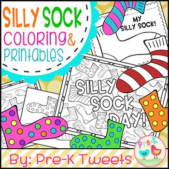 sock coloring pages silly socks dr