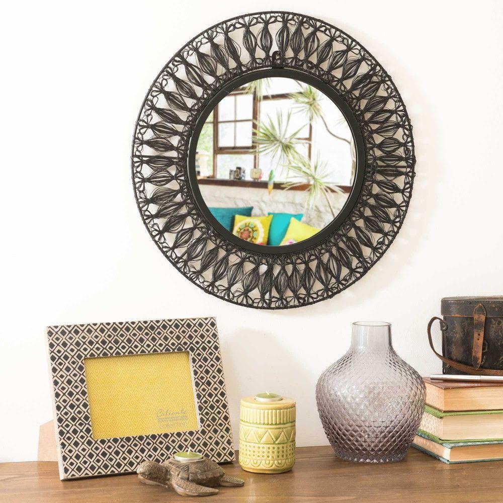 Espejo de metal negro D.45 cm | Maisons du Monde | DECORACION DE ...
