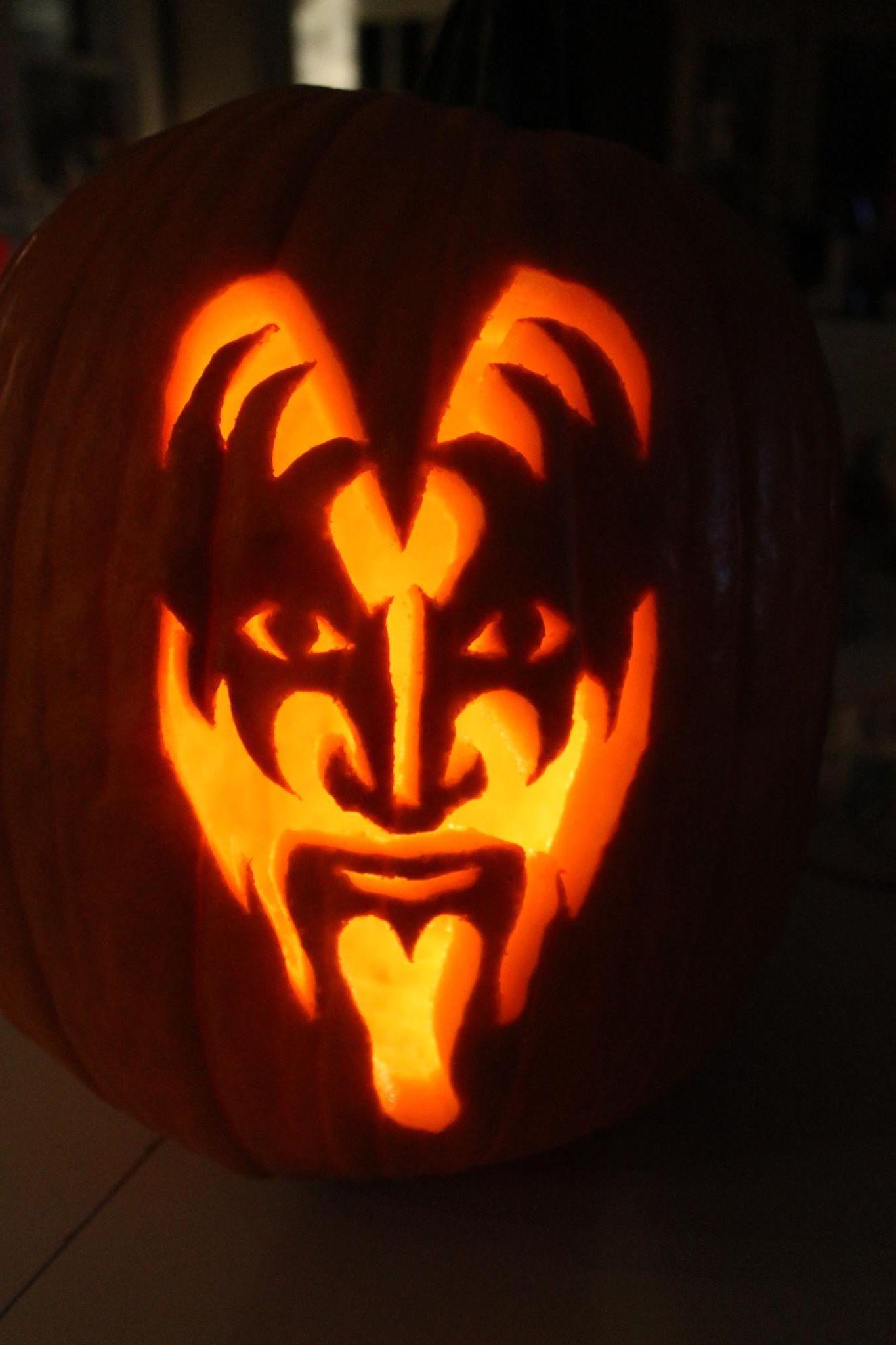 Gene Simmons Pumpkin I Carved
