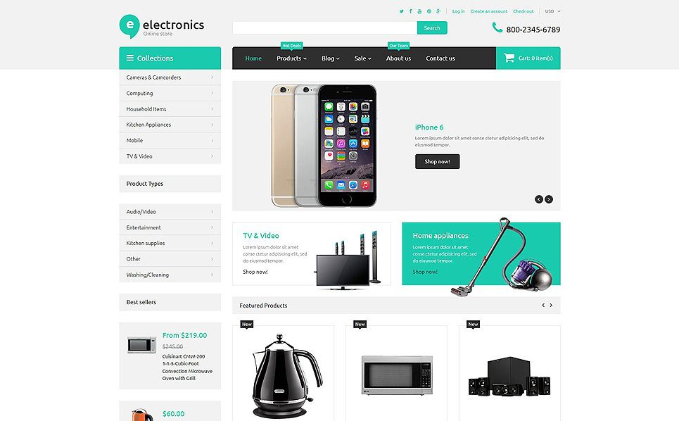 Electronics Shopify Themes Best website templates