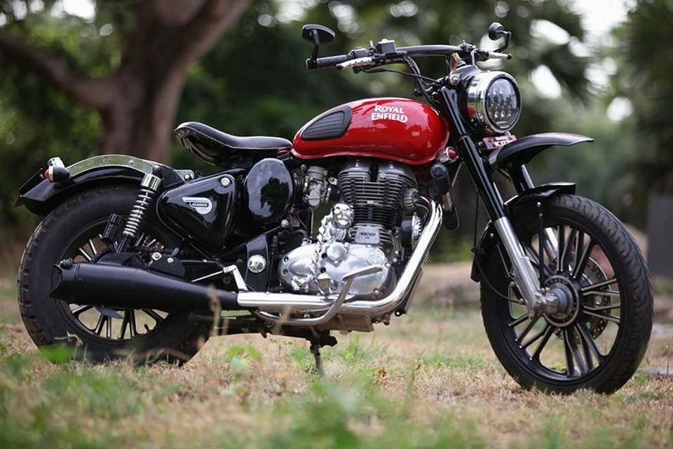 Modified Royal Enfield Classic 350 India Bullet Mod Orange Enfield Classic Bullet Bike Royal Enfield Royal Enfield