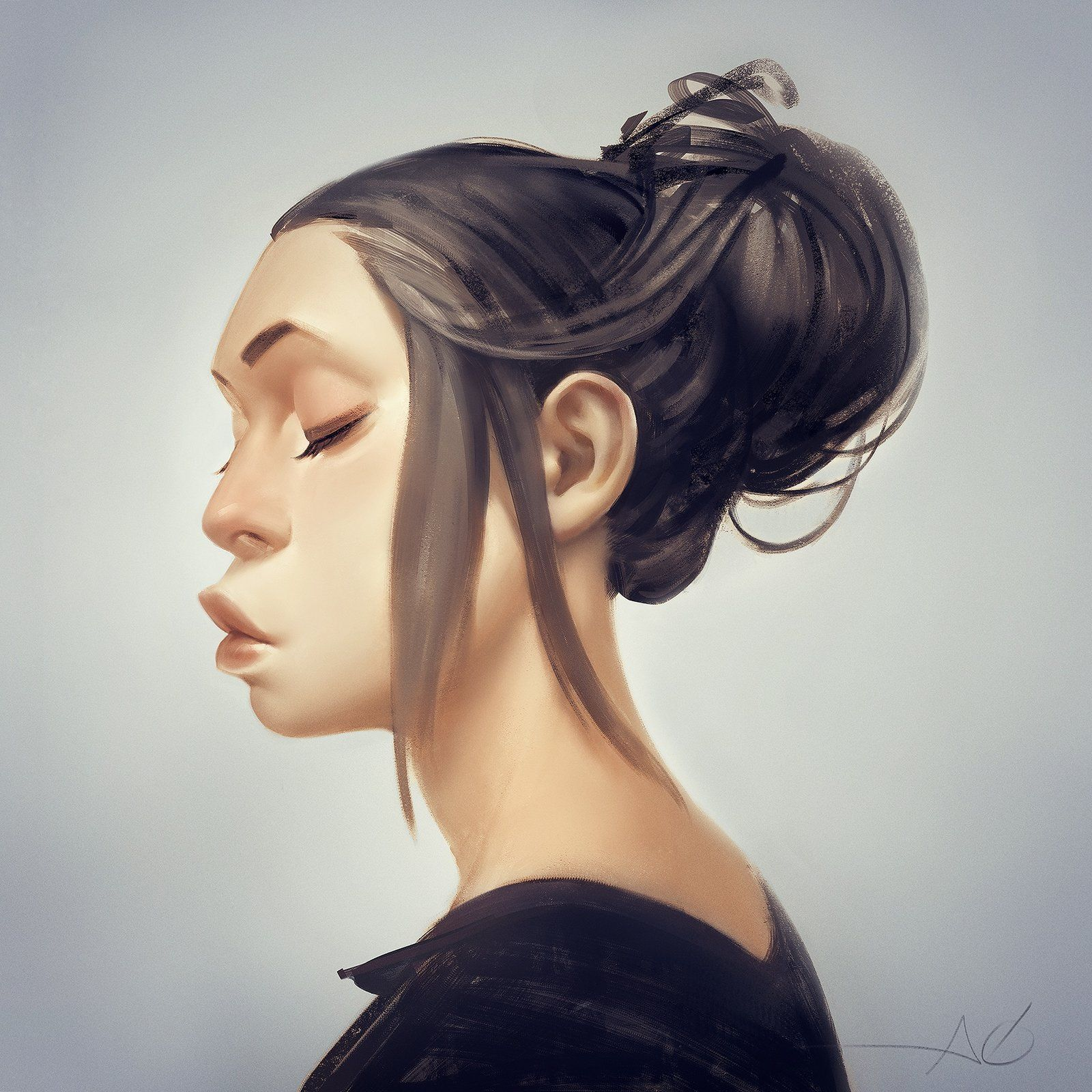 back to imagination portrait, Ayran Oberto on ArtStation at https://www.artstation.com/artwork/back-to-imagination-portrait