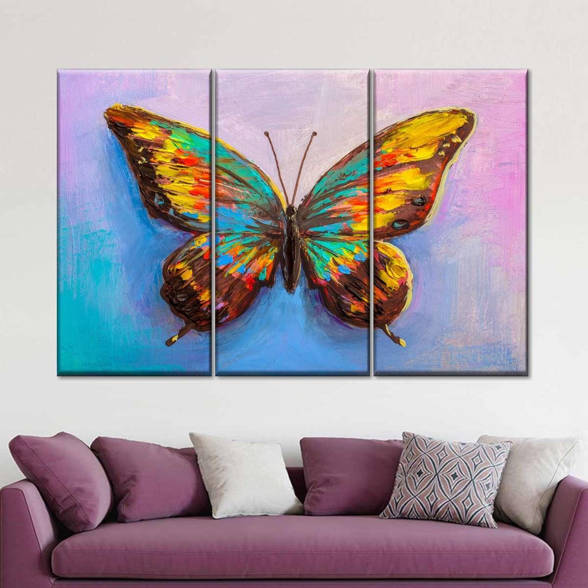 Butterfly Canvas Multi Panel Canvas Wall Art Multi Canvas Painting Butterfly Canvas Multi Canvas Art
