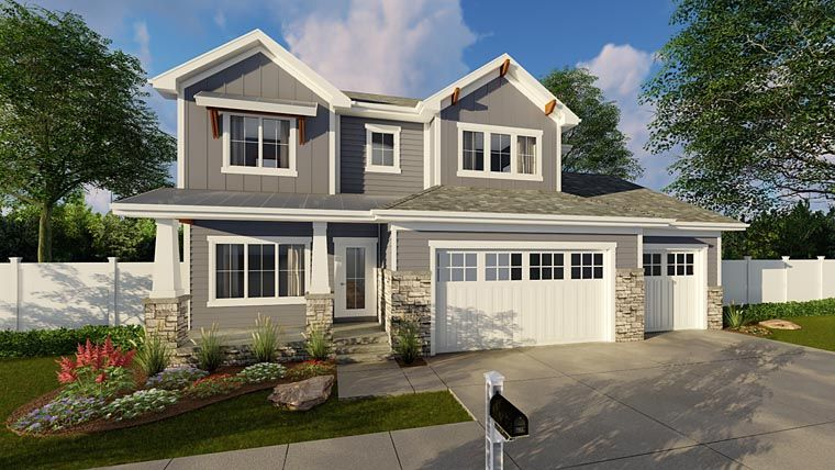 Traditional Style House Plan 44179 With 4 Bed 4 Bath 3 Car Garage Craftsman House Plans House Plan With Loft House Plans