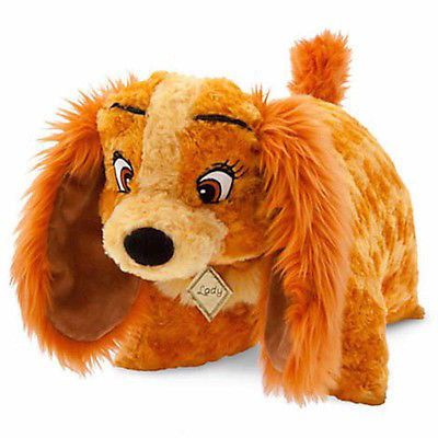 disney parks lady and the tramp lady reverse pillow pet