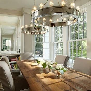 Roark Modular Ring Chandelier Transitional Dining Room Murphy Co Design