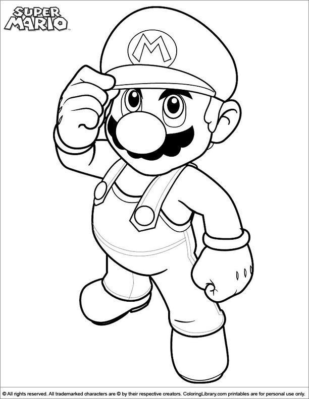 Super Mario Brothers Coloring Page Mario Coloring Pages, Cartoon Coloring  Pages, Coloring Pages