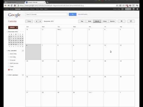 Using Google Calendars to Create a Shift Calendar - YouTube