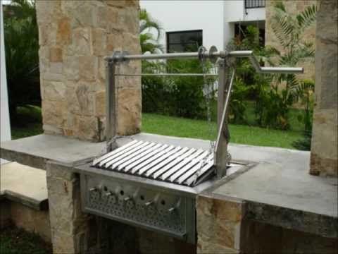 asadores campestres en acero