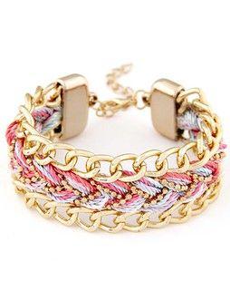 Chain And Pink Bracelet pinkgoldchainandpinkbracelet