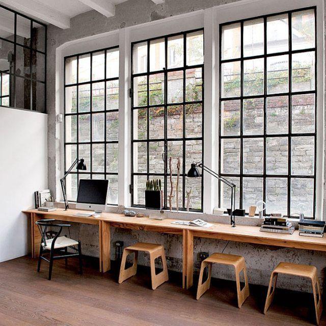 industrial workspace #industrial #interiordesign | customer