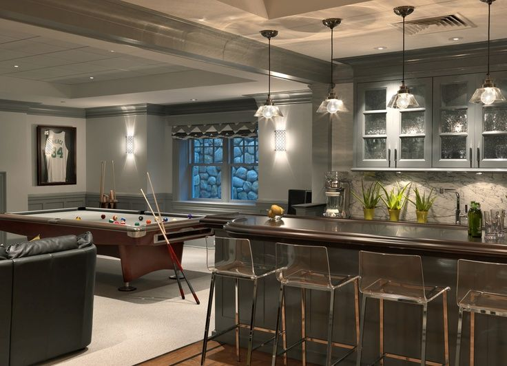 Gentil Vapor Bar Stools For The Modern Basement Bar [Design: Jan Gleysteen  Architects]