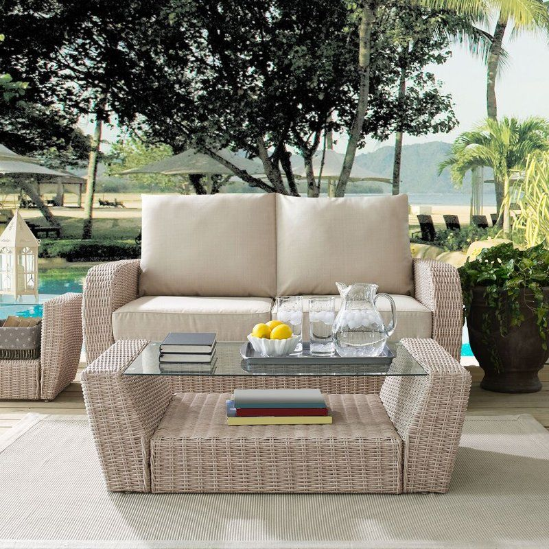 Outdoor Wicker Coffee Table St Augustine Wicker Coffee Table