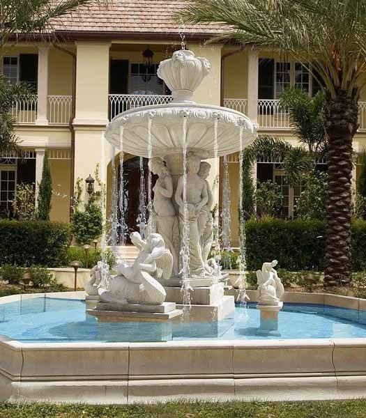 Water fountains front yard and backyard designs water for Front garden features